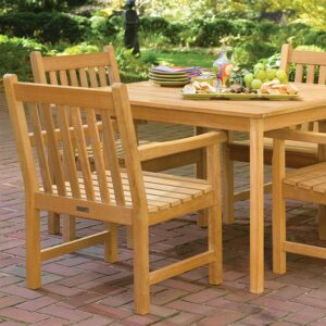 Oxford Teak 42″ Dining Table