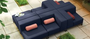 Koral Fully Upholstered Modular Lounge Seating
