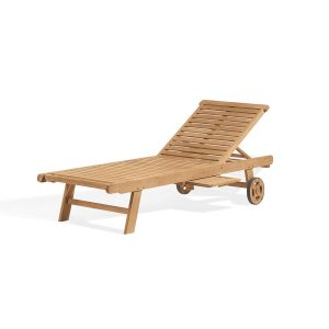 Oxford Teak Chaise Lounge
