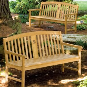 Signature Series Wooden Engraved Bench