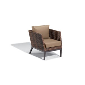 Salino Wicker Club Chair – Nauticau Faux Leather Cushions