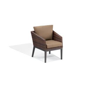 Salino Wicker Armchair – Nauticau Faux Leather Cushions
